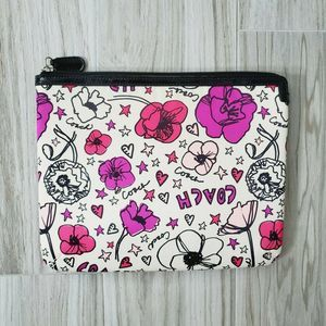 "Coach Floral 10""x8"" Organizer Cosmetic Bag Pouch"